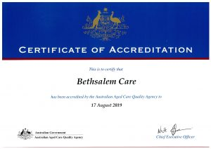2016-19 Accreditation Certificate