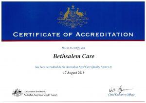 2016-19 Accreditation Certificate